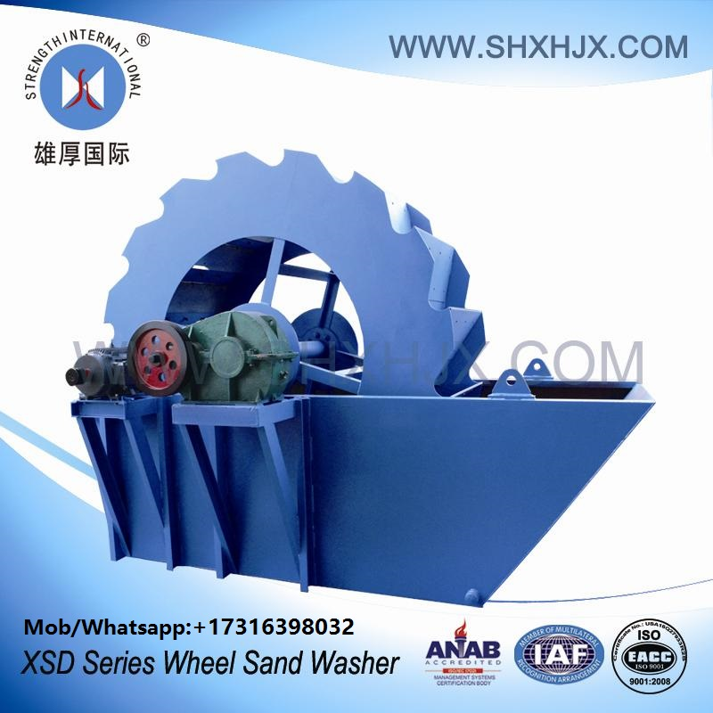 High Washing Efficiency Wheel Sand Washer Sand Washing Machine For Road Construction