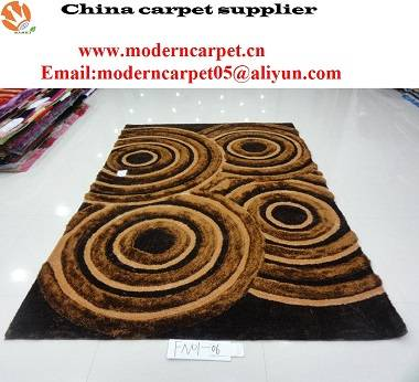 3d polyester shaggy carpet rugs