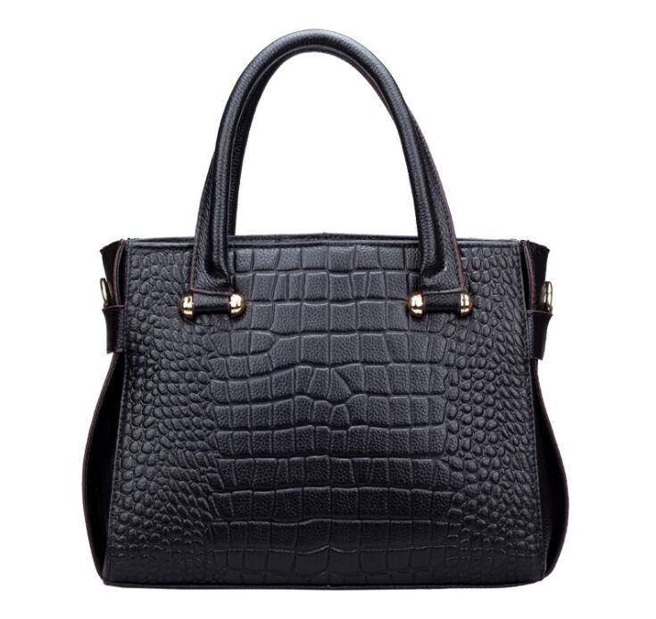 Women PU crocodile style handbag from China factory