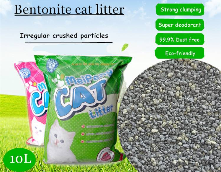 CIPS  irregular crushed shaped bentonite cat litter sand