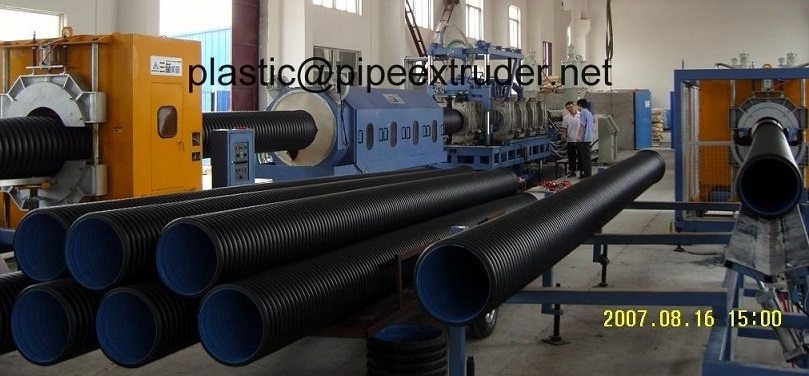 Corrugated Pipe Extrusion Line-DWC 75-315mm HDPE/PP Double Wall Corrugated Pipe Extrusion Line