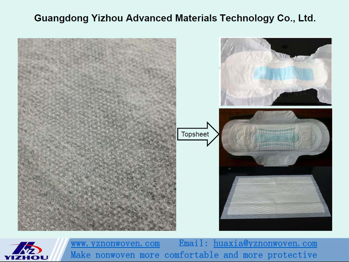 hydrophilic pp spunbond nonwoven fabric for topsheet of baby diaper, adult diaper, sanitary napkin