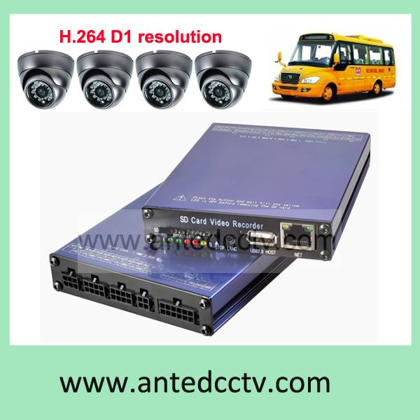 H.264 SD Card 1/2/4 Channel CCTV Car Mobile DVR with GPS tracking