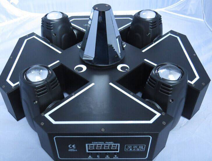 NEW Patent Design Lotus Effect 4Head Moving Head Beam Led Disco Light Free Shipping
