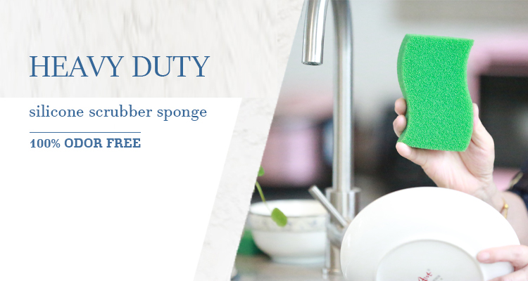 custom cleansing sponge clear silicone rubber china kitchen cleaning sponge honeycomb sponge