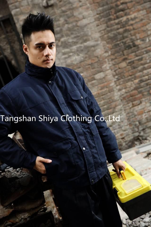 Customize navy blue winter workwear