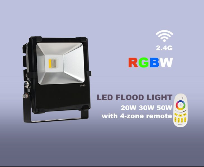 Milight RGBW Warm White 50W Led Flood Light Remote Control And Smartphone Control