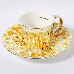 Luycho Mirror Cup & Saucer - Rothchild9s Giraffe