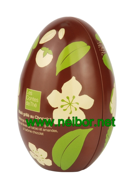 Easter egg tin box egg tin chocolate tin box
