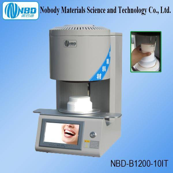 1200 Celsius Vacuum High Temperature Bottom Load Porcelain Furnace for Dental Labs