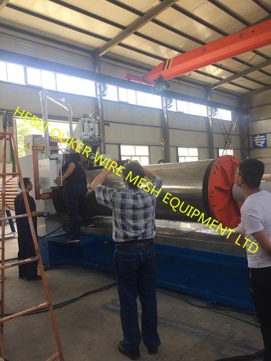 1 meter diameter tube wedge wire screen plate welding machine