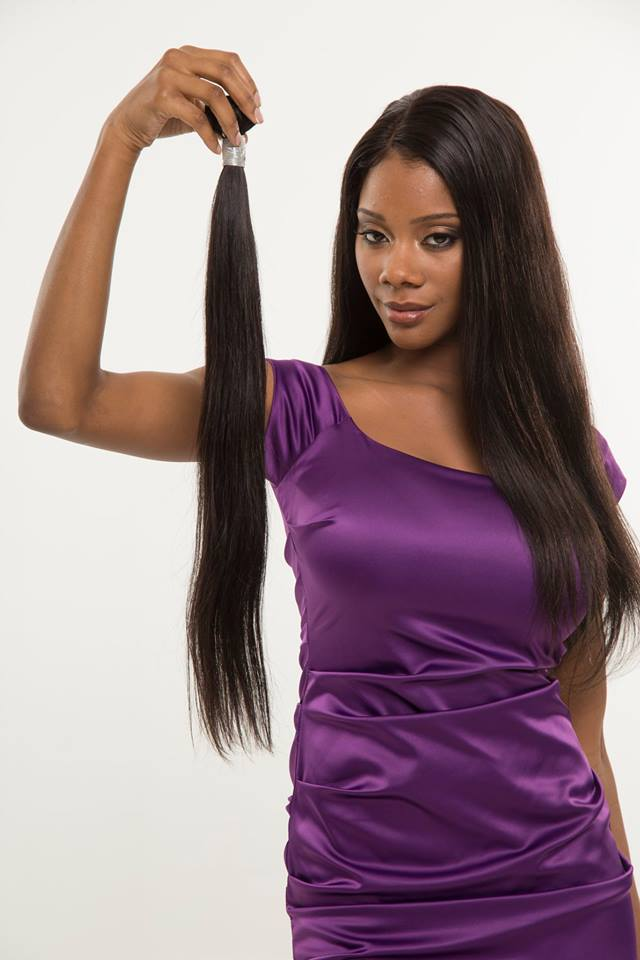 Unprocessed raw virgin human hair straight brazilian hair natural black peruvian hair weave
