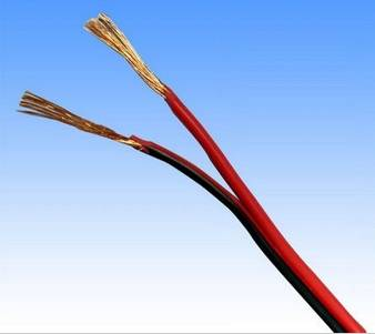 lamp cord 2x1.5m2 red/black parallel flexible cooper wire
