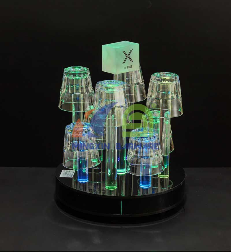 8 Headed LED Glass Holderled serving tray for sale LED acrylic serving tray