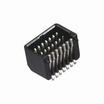 0.8mm Pitch Board to Board Connector, Comes in Black Color