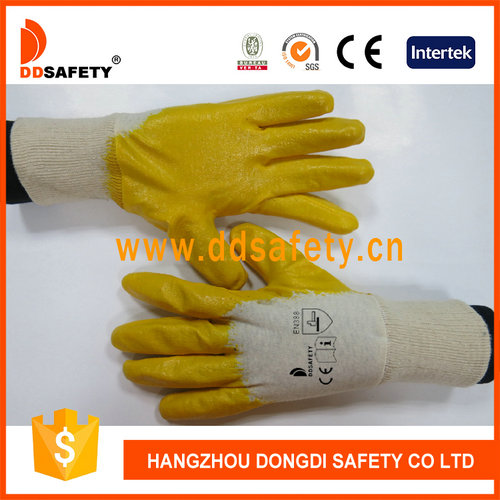 Cotton with yellow nitrile glove-DCN303