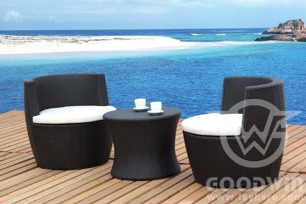 GW3023 Set New Design Garden Outdoor Furniture Rattan Vase Set
