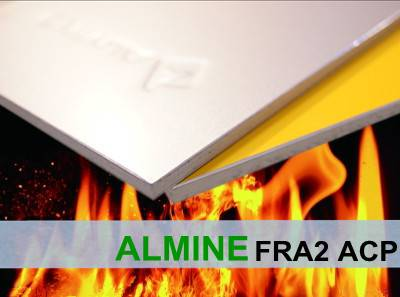 ALMINE---Non-Combustible Aluminium Composite Panel, FRA2/B1 Fire Rated ACP, Curtain Wall Panel, Faca
