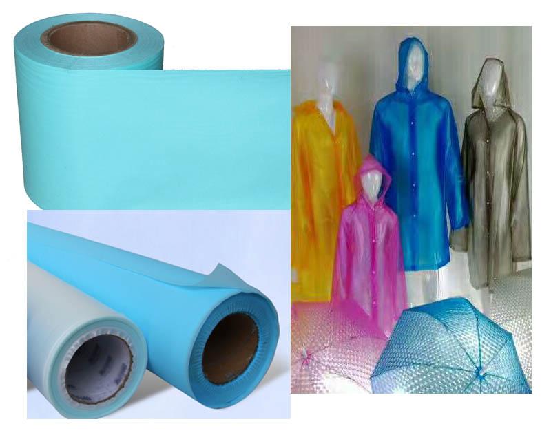 Eco friendly Soft PE EVA PEVA casting film for making raincoat