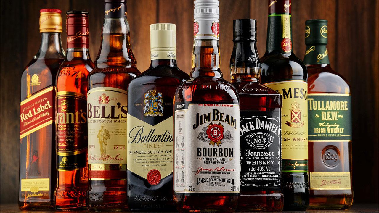 Whisky vodka, white Rum _wine - beer