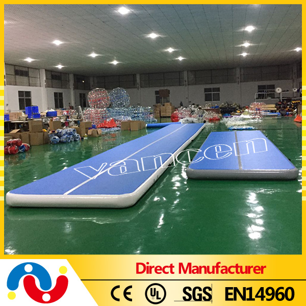 customized logo air mat inflatable air track tumble track for sale