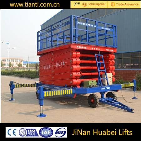 Portable scissor type trolley lift