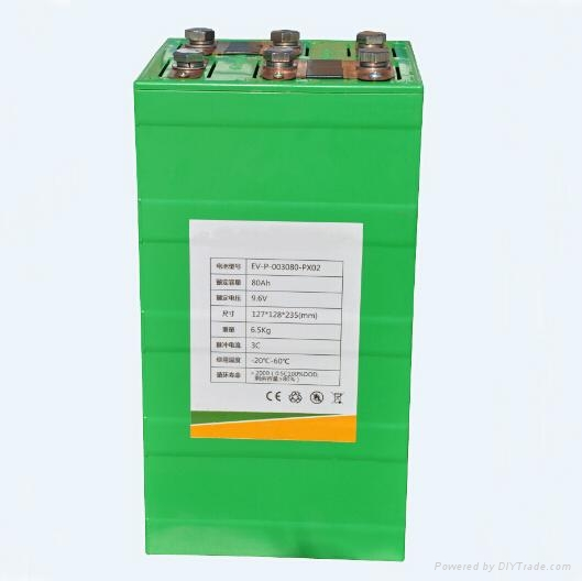 9.6V 80AH Lithium Iron Phosphate ( LiFepo4) Battery Can Be Customized