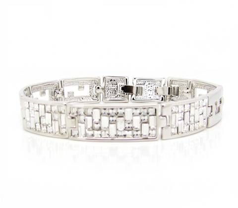 Wholesale Individualized bling bling bracelet with transparent & white Swarovski element crystals ro