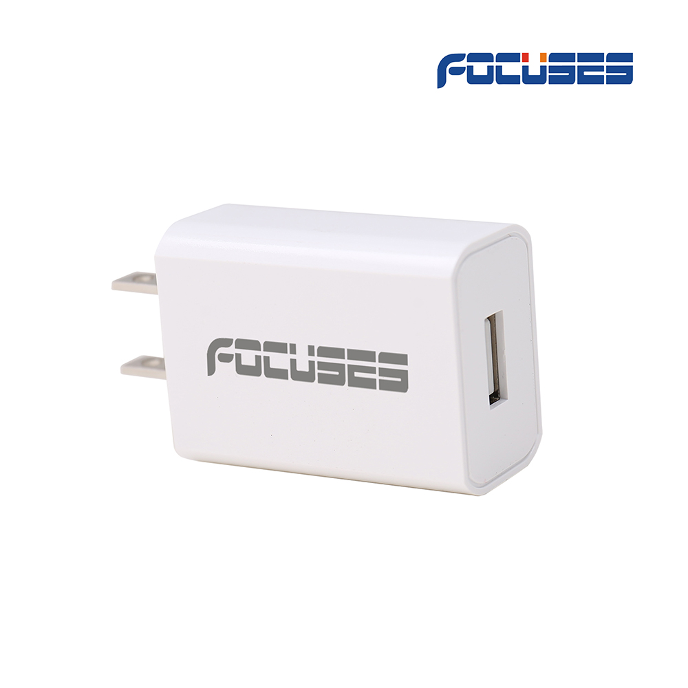 FOCUSES AC100-240V 50-60Hz, DC Output 5V 2A(10W) Universal USB Wall Travel Charger