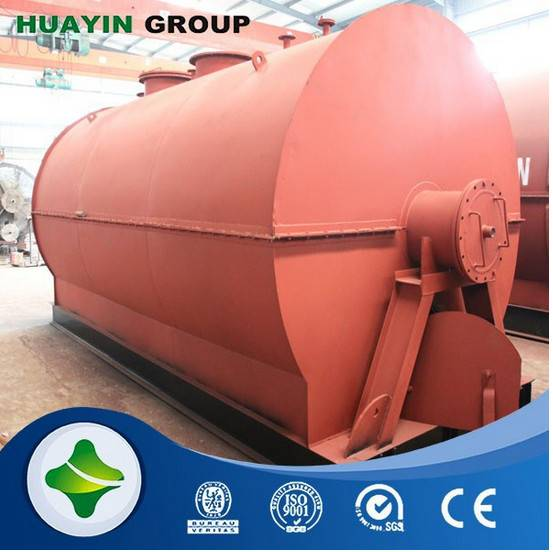 HUAYIN brand waste plastic refining to oil machine with high oil rate