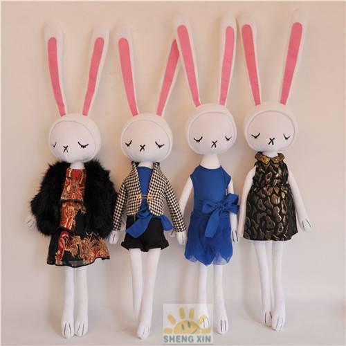 Rabbit Fashion Soft Stuffed animal Toys Baby Gifts