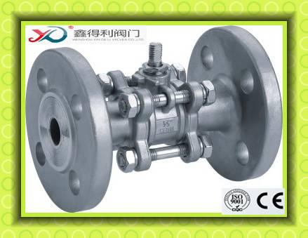 Q41F-64P 3PC flanged ball valve