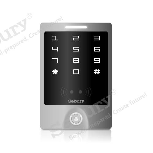 Touchscreen access control system door entry system