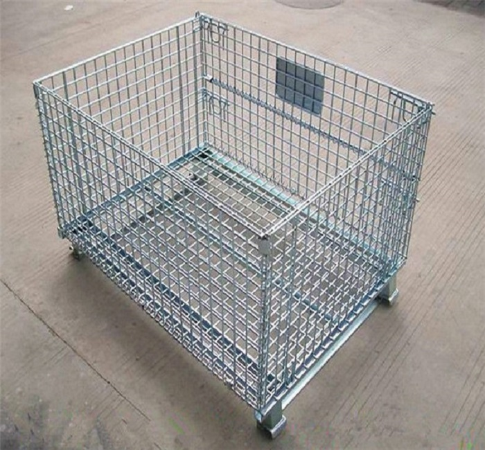 Industrial Stackable Storage Metal Folding Wire Mesh Container