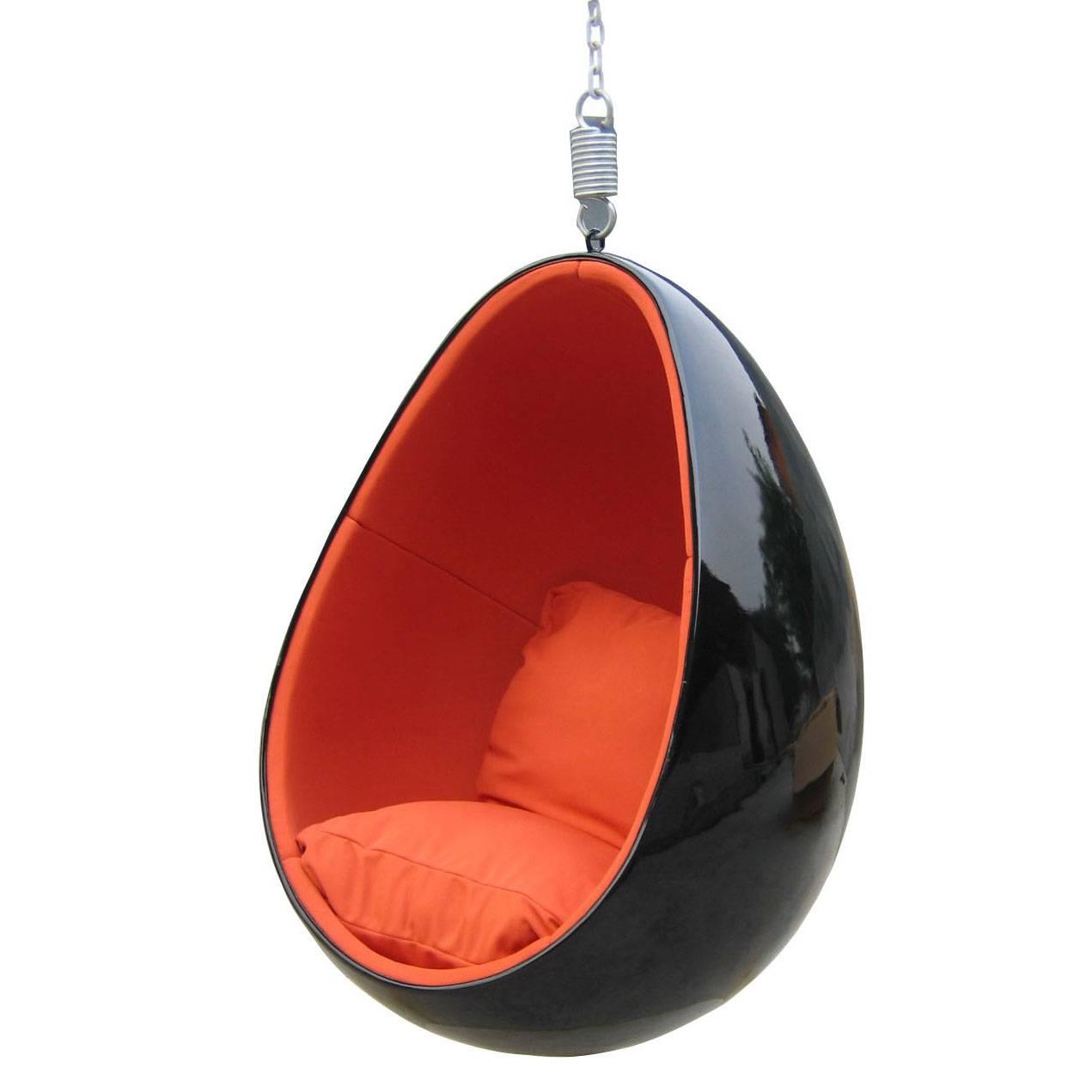 Eero Aarnio Clear Hanging Egg Chair Mooka Modern