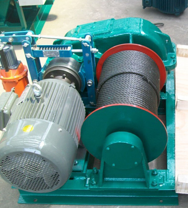 CE certificated 0.5ton to 10ton electric windlass, JK model high speed electric wire rope winch
