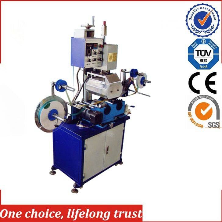 TJ-44  solid color pattern ribbon hot foil stamping machine
