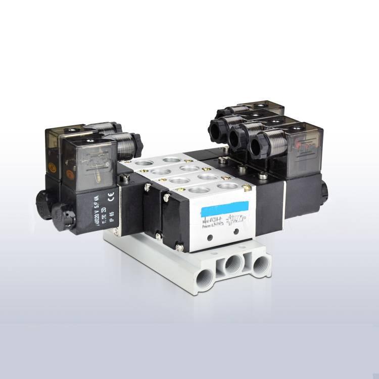 China Manifold solenoid valve 5 way