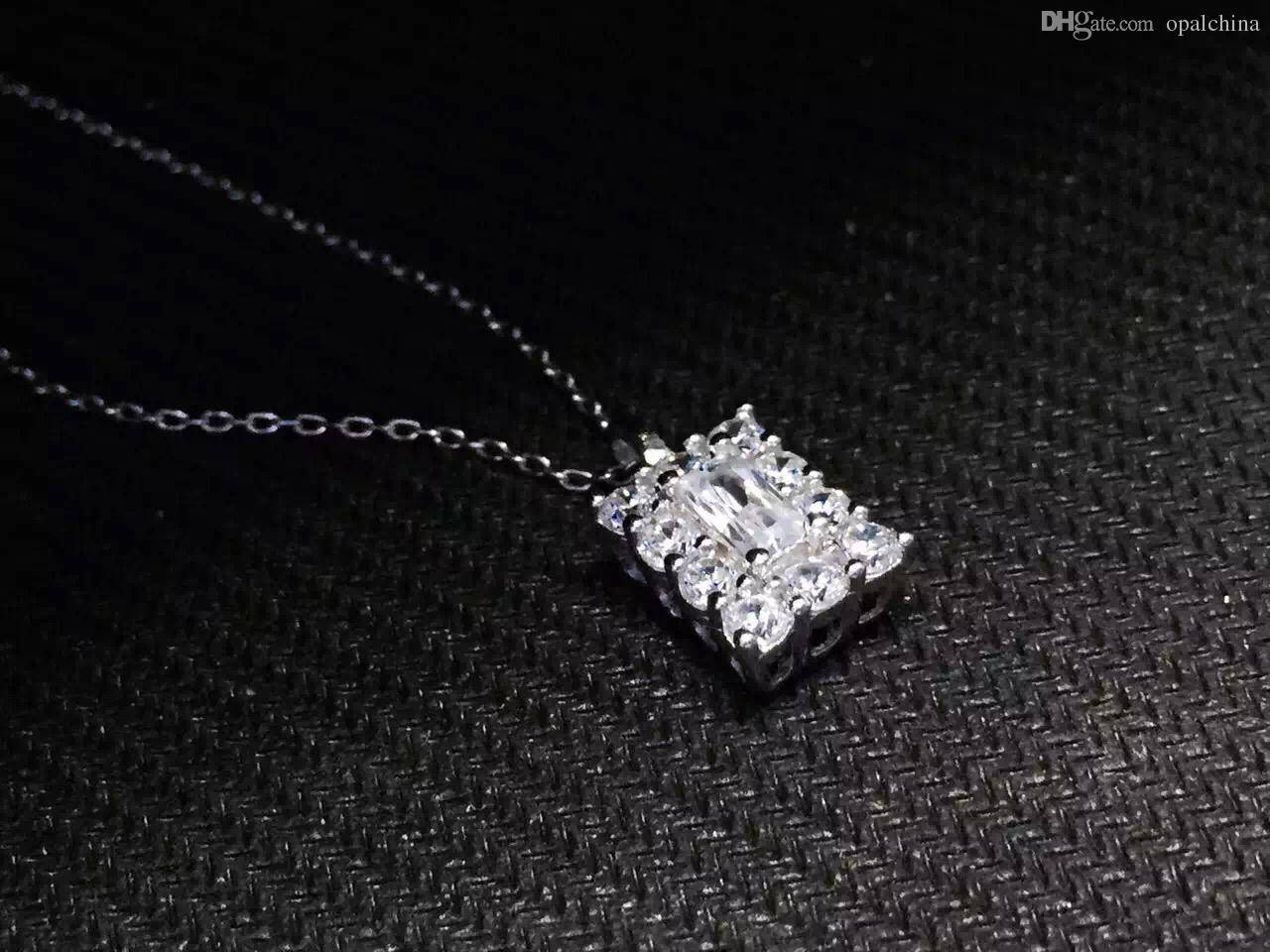 Neffly jewelry for free shipping OEM factory 2016 new design product square diamond jewelry S925 luc