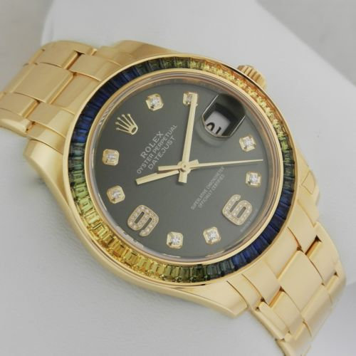 Brand New Rolex Oyster Perpetual Datejust Pearlmaster 39mm Yellow Gold 86348SABLV Luxury Watch