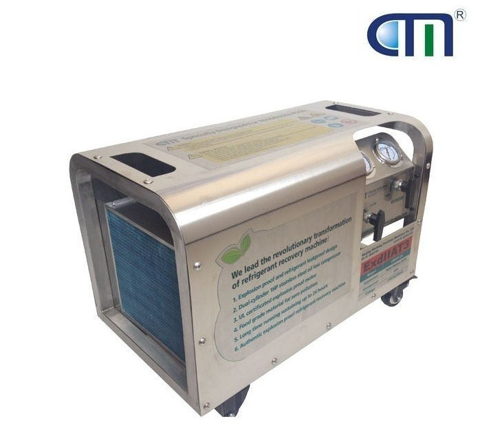 Factory Direct Sale Anti Explosive Oil Less Refrigerant Recovery Machine with 2.5 Mpa High Pressure