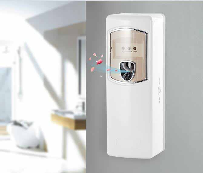 Wall Mounted 24hr / Day / Night Spray Toilet Battery Air Freshener Dispenser with Lock