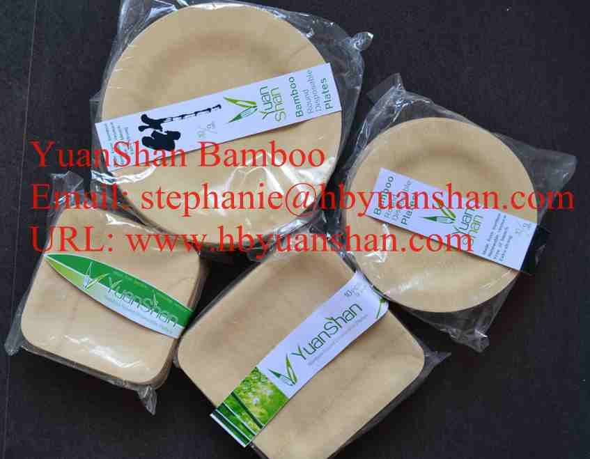 Square Bamboo tableware
