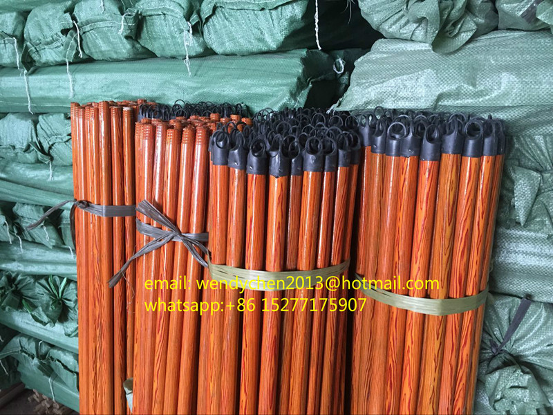 pvc wood handle wooden broom pole