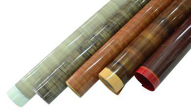 High gloss wood grain PVC film for furniture / construction decorative lamination