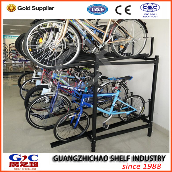 bicycle storage and display rack
