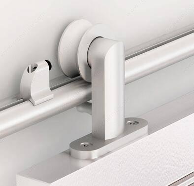 Europe Style Aluminum Wooden Sliding Barn Door Hardware