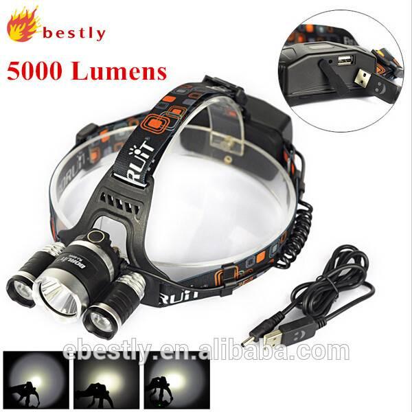 Boruit Most Powerful Headlamp RJ-5000 Rechargeable Mining Headlamp