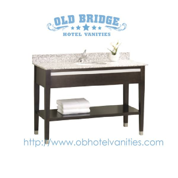 bath vanity with solid wood legs