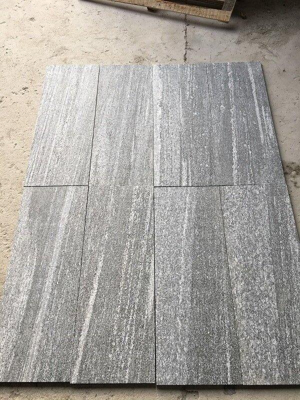 Nero Santiago GreyGranite for flooringtiles flamed wall cladding